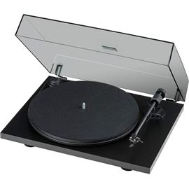 Pro-Ject Primary E Phono - record player with integrated phono pre-stage (matt black / incl. tonearm + Ortofon - OM cartridge / dust cover / plug & play)