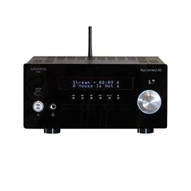 Advance Paris My Connect 60 - audiophile all-in-one system & streaming amplifier with tube preamp (class AB amp / CD / BT / FM / DAB+ / USB / incl. remote control / black)