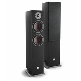 DALI Oberon 7 C - wireless bass reflex floorstanding loudspeakers (black ash / 2x 50 Watts RMS / class D / 1 pair)