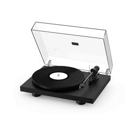 Pro-Ject Debut Carbon EVO - record player (matt black = elegant satin finish / incl. tonearm + Ortofon - 2M Red cartridge / dust cover)