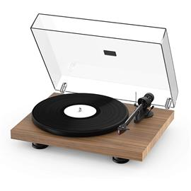 Pro-Ject Debut Carbon EVO - record player (walnut real wood veneer = satin lacquered finish / incl. tonearm + Ortofon - 2M Red cartridge / dust cover)