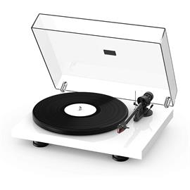 Pro-Ject Debut Carbon EVO - record player (high gloss white / incl. tonearm + Ortofon - 2M Red cartridge / dust cover)