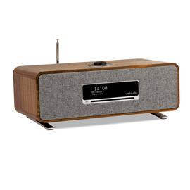 ruarkaudio R3 MKI - hi-fi music system (all-in-one sound system / 30 W / CD / OLED display / DAB / DAB+ / FM tuner / USB / Apt-x Bluetooth / walnut real wood veneer)