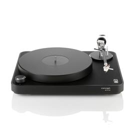 Clearaudio Concept Active - record player set with phono preamplifier and Concept MM cartridge system (incl. tonearm / black with black chassis / TT058)