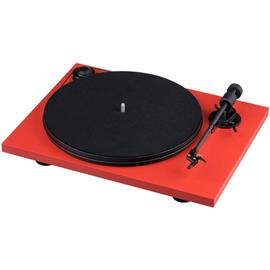 """Pro-Ject Primary E - record player incl. tonearm + Ortofon - OM 5E MM cartridge (matt red / with straight 8,6"""" tonearm / incl. dust cover / plug & play)"""