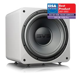 SVS SB-1000 Pro - active subwoofer (325 Watts RMS continuous power / 820 Watts maximum peak / front firing 12 inch driver / DSP / piano gloss white)