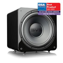 SVS SB-1000 Pro - active subwoofer (325 Watts RMS continuous power / 820 Watts maximum peak / front firing 12 inch driver / DSP / piano gloss black)