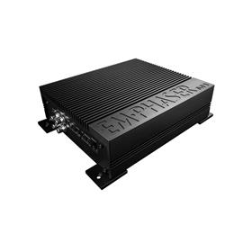 Emphaser EA-M1 - monolith amplifier (bass boost / high-end Tiffany RCA sockets / sand-blasted aluminum heat sink / incl. bass level remote control)
