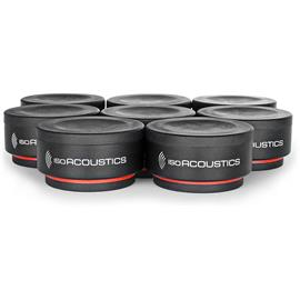 IsoAcoustics ISO-Puck mini - acoustic isolators (8 pieces / vibration dampening up to 2.75 kg per foot / special absorber feet / universally applicable)