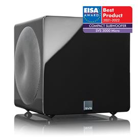 SVS SB-3000 Micro - active subwoofer (800 Watts RMS continuous power / 2500 Watts maximum peak / dual 8 inch drivers / DSP / piano gloss black)