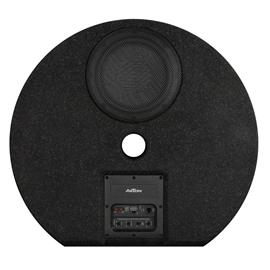 Axton ATB20RXF - extra flat active subwoofer for the spare tire well (20 cm / 8 inch / 100 Watts RMS / incl. bass level remote control)