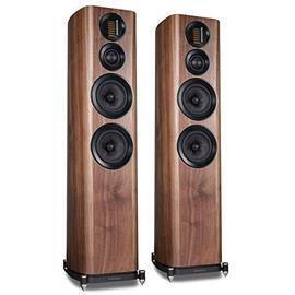 Wharfedale EVO 4.4 - 3-way bass reflex floorstanding loudspeakers (walnut veneer / 30-200 Watts recommended amplifier power / 1 pair)