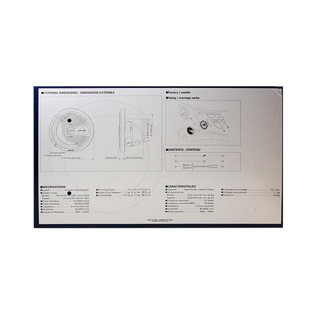 ALPINE SPS-M600 - 16,5 cm 2-Way Marine Coaxial Speaker (silver)