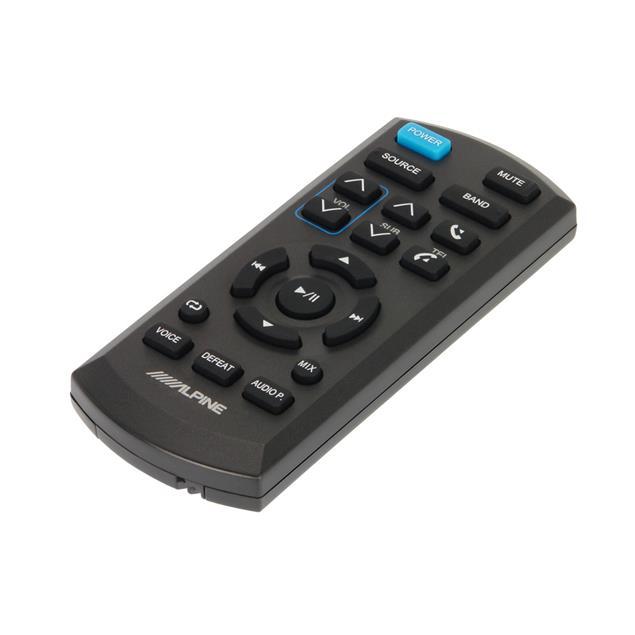 ALPINE wireless infrared remote control (42 mm x 100 mm x 12 mm / schwarz)