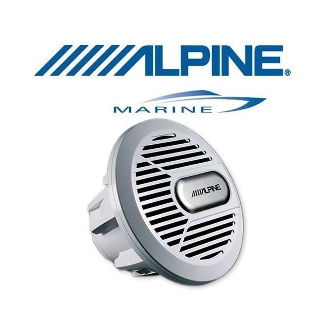 ALPINE SWR-M100 - Marine Subwoofer (silver)