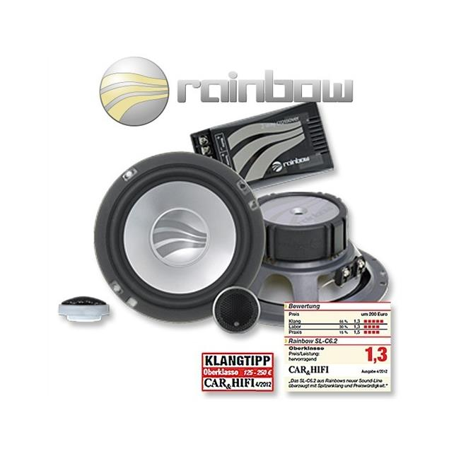 RAINBOW 231212 - 150 Watt 16,5 cm (6.5 inch) Sound Line SL-C6.2 Speaker 2-Way Compo Set