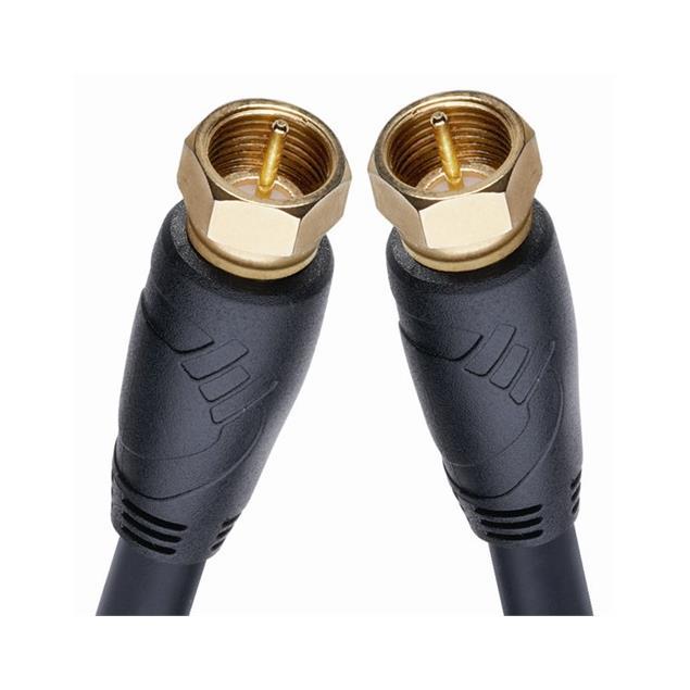 Oehlbach 154 - Easy Connect Antenna F - Digital satellite cable 1 x F Antenna plug auf 1 x F Antenna plug (1 pc / 2,0 m / black/gold)