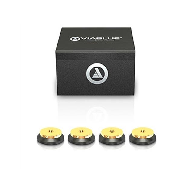 ViaBlue 50120 - QTC - replacement discs for spikes (4 pcs / gold/black)