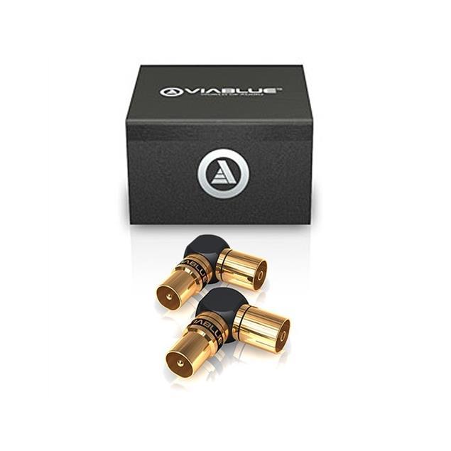 ViaBlue 40815 - XS - Antenna Adapter 90° (2 pcs / black/gold)