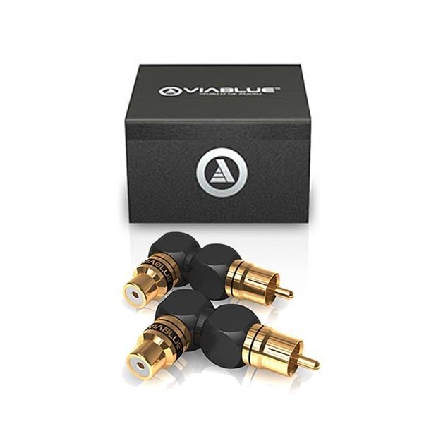 ViaBlue 40620 - XS - RCA adapter 90° XL (2 pcs / black/gold)