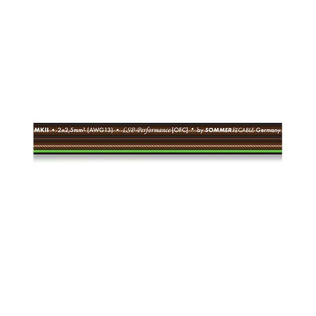 Sommer Cable 240 MKII - SC-ORBIT  - Speaker cable (1 m / 2x4,0 qmm / OFC / black transparent )