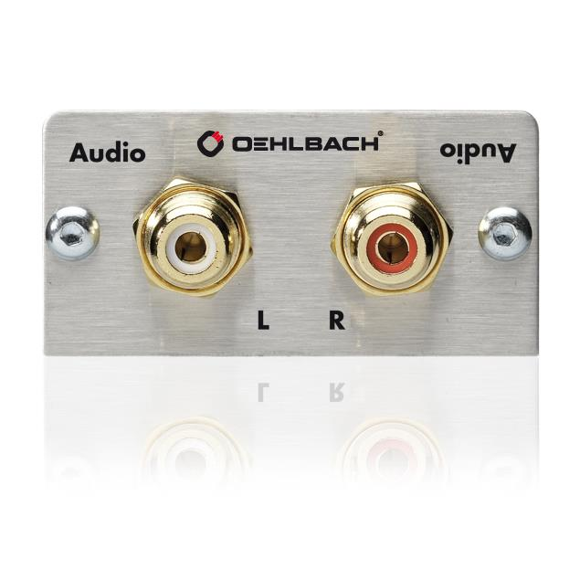 Oehlbach 8814 - MMT-C Audio - Audio multimedia tray with breake out cable - 2 x RCA  (1 pc)