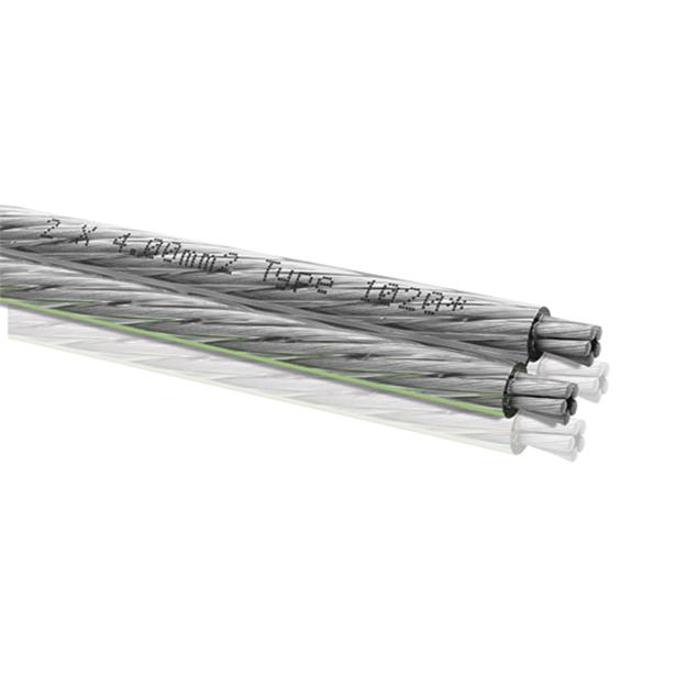 Oehlbach 1020 - Silverline 40 - Loudspeaker cable flexible (1m / transparent / silver plated / 2x4,0 qmm)