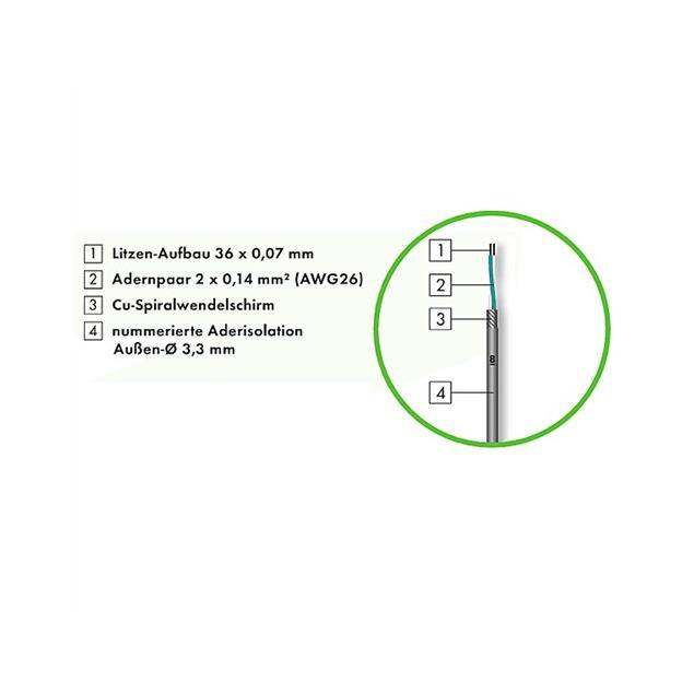 Sommer Cable QMC04 - SC-QUANTUM 4 HIGHFLEX -  Multipair Stage, Studio & Installation Audio (1 m / 4 x 2 x 0,14 qmm / 10,2mm / black, mat )