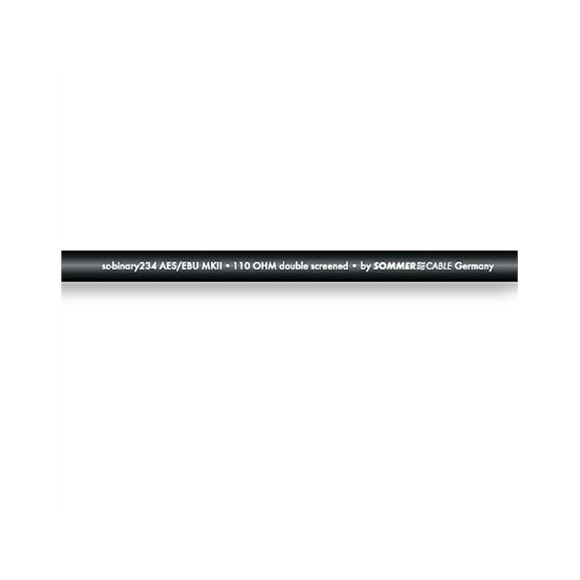 Sommer Cable 234 - SC-BINARY 234 AES/EBU MKII - AES/EBU & DMX-Cable (1 m / 2 x 0,34 qmm / 6,4mm / black )
