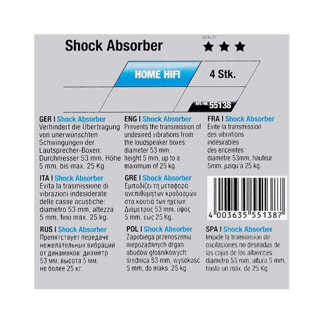 Oehlbach 55138 - Shock Absorber - Resonance damper (4 pcs / black)