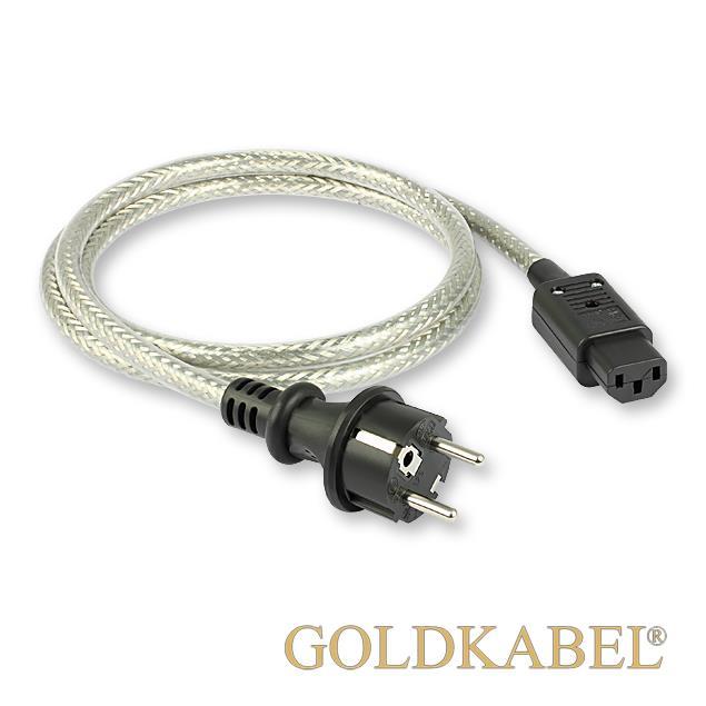 Goldkabel 114678 - POWERCORD (1 piece / 1,0 m / black/silver)