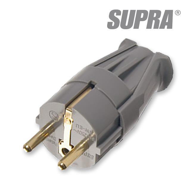 Supra Cables 3014000065 - LoRad SW-EU - Mains plug male (1 piece / anthracite)