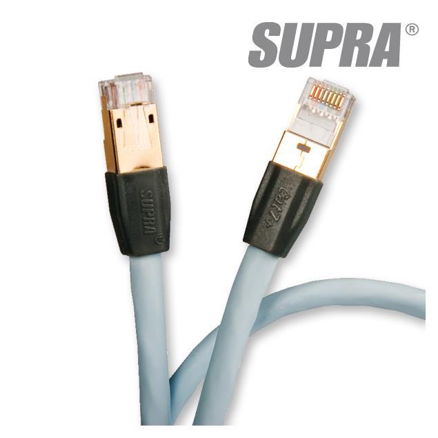 Supra Cables 1001907219 - SUPRA CAT 7+ - network/patch cable, 1 x RJ45 (Ethernet) to 1 x RJ45 (Ethernet) (1 pcs / 5,00m / ice blue)