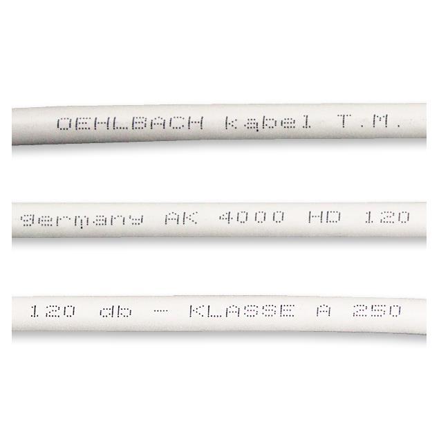 Oehlbach 1298 - AK 4000 HD - Digital antenna cable (1m / white / copper)