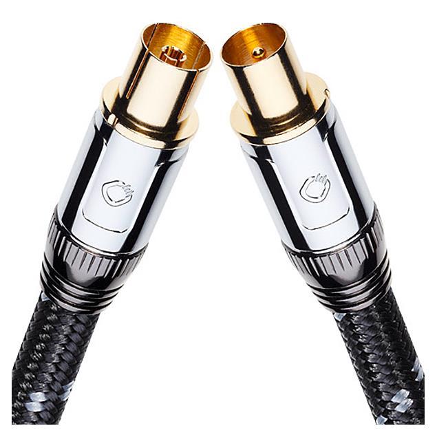 Oehlbach 22527 - XXL® Transmission Ultra 120 - Digital High-End Antenna Cable 1 x Antenna plug (m) to 1 x Antenna plug (f) (1 pc / 1,2 m / black)