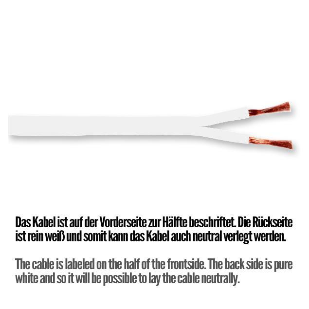 Sommer Cable SC425-0310 - SC-TRIBUN - Speaker cable (1 m / 2x2,5 qmm / 14,6 mm x 2,6 mm / white)