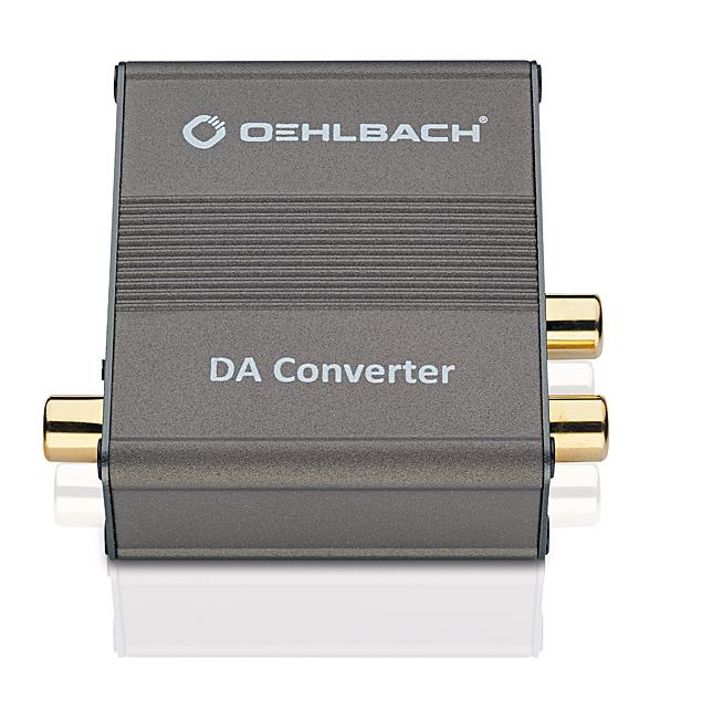 Oehlbach 6064 - Digital-analogue converter, digital-coaxial and digital-optical input (1 pc / anthracite)