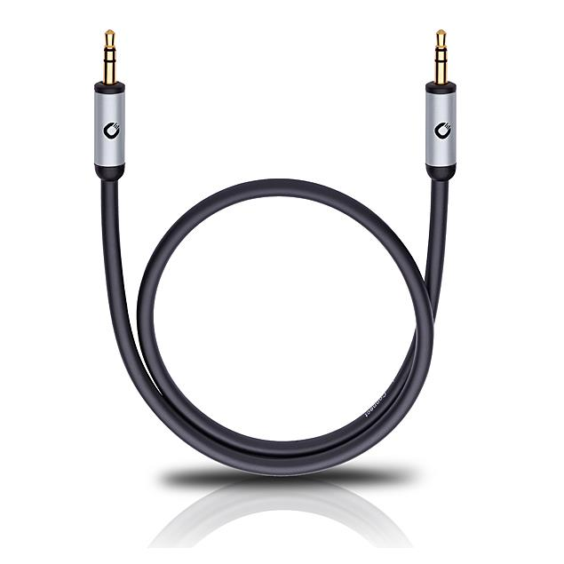 Oehlbach 60015 - i-Connect J-35 300 - Mobile audio cable, 3.5 mm audio jack to 3.5 mm (3,0 m / black)