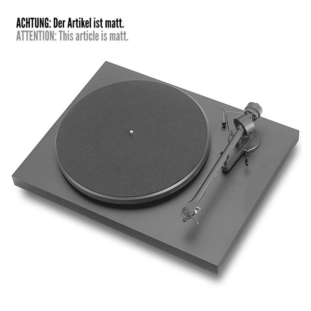 Pro-Ject Debut III - record player incl. tonearm + Ortofon MM cartridge OM 5E (matt black / incl. dust cover)
