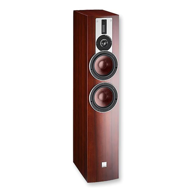 DALI Rubicon 6 - 2,5-Way bass reflex floorstanding loudspeaker (40-200 W / rosso veneer / 1 piece)