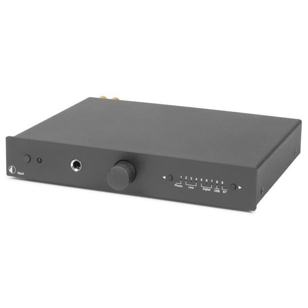 Pro-Ject MaiA - high-quality stereo audio integrated amplifier (digital&analog / USB / Bluetooth / aptX / black)