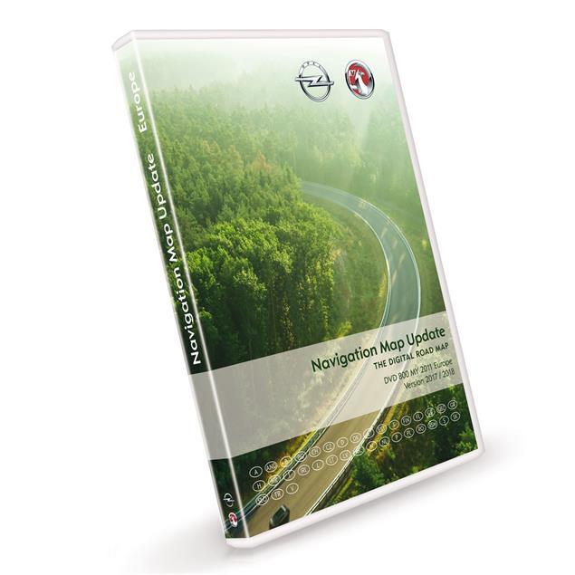 NAVTEQ Europe - Opel DVD800 & CD500 - MY2011 Version 2017/2018 for Astra J / Insignia / Meriva B
