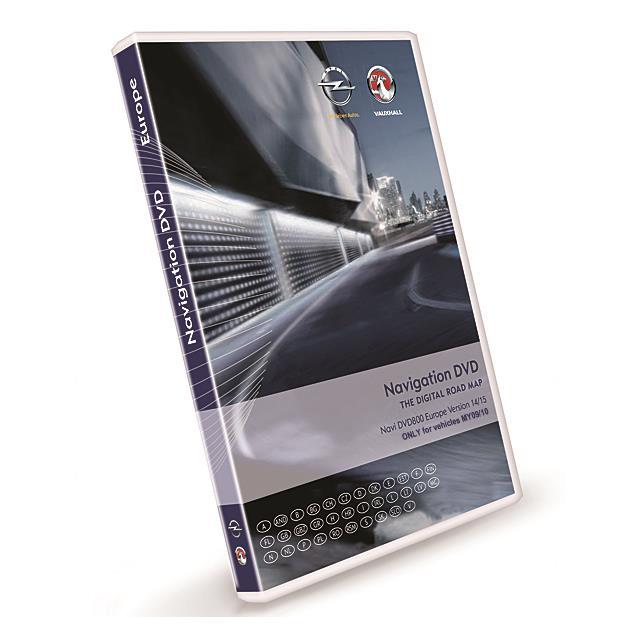 Navteq Europe - Opel DVD800  Version 2014/2015 for Astra J / Insignia / Meriva B