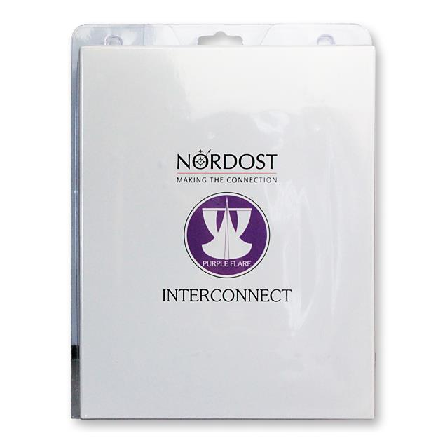 Nordost Purple Flare - Analog Interconnect - RCA connecting cable (2 x 1.0 m / purple / silver-plated OFC)