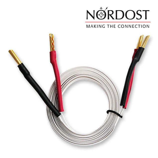 Nordost 2FL50 - 2 FLAT - Speaker Cables Ultra-thin flexible formulated with Bananas (2 x 3 m / white / OFC)