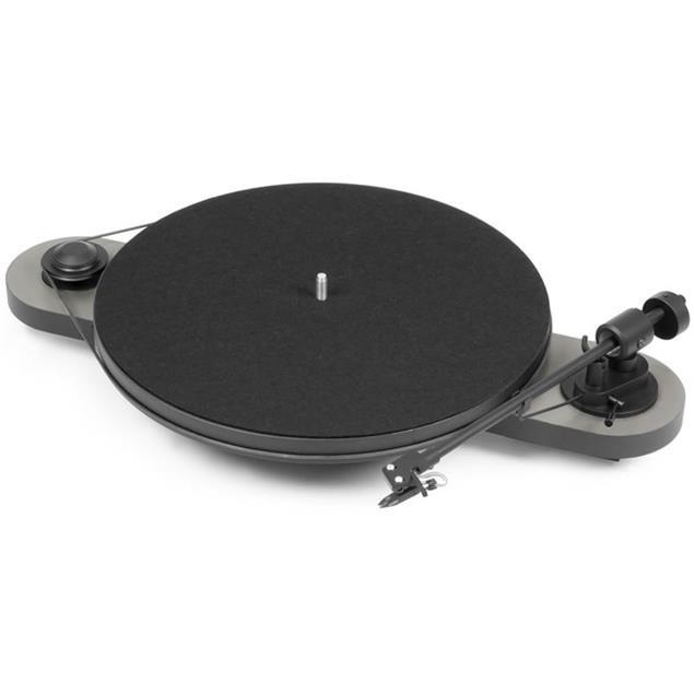 "Pro-Ject Elemental - manual record player with Ortofon OM 5E cartridge (silver/black / incl. straight 8,6"" tonearm)"