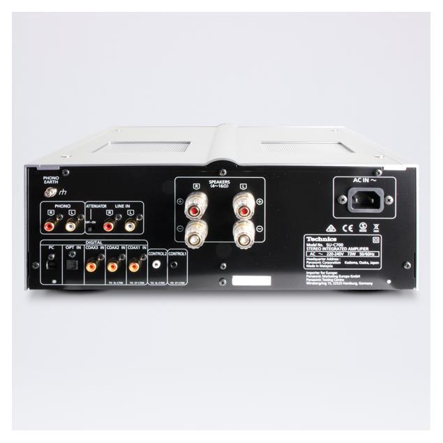 Technics SU-C700 - stereo integrated amplifier (2 x 70 Watts / USB-DAC (USB-B) / LAPC / MM phono input / silver)