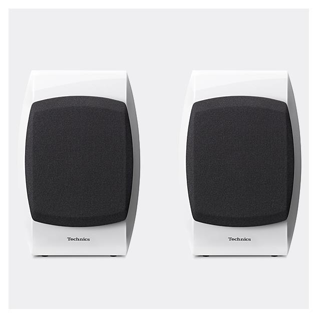 Technics SB-C700 - 2-Way bassreflex compact loudspeakers (100 Watts max. input power / coaxial / high-gloss white / 1 pair)