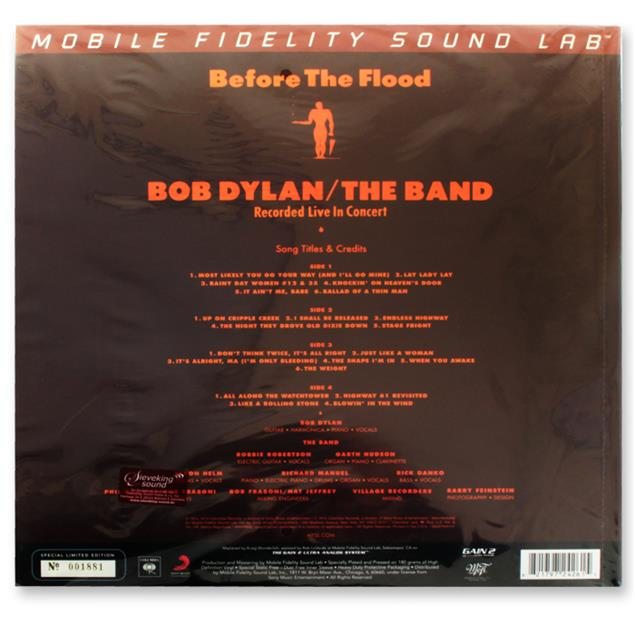 Bob Dylan And The Band: Before The Flood - Double-LP (2 x 180 gram vinyl / gatefold LP / Mobile Fidelity Sound Lab / new & sealed / MFSL 2-426)