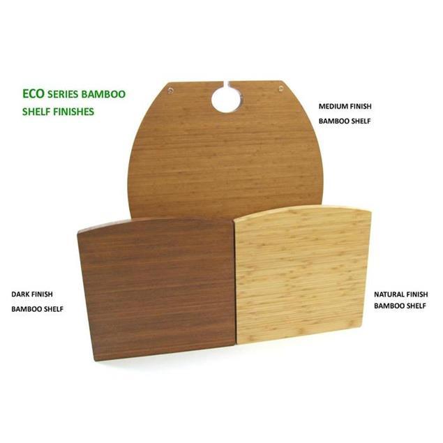 Atacama Eris2 Eco 5.0 - hi-fi rack - 150 mm shelf module (made from light bamboo solid wood = natural bamboo / incl. silver spikes)